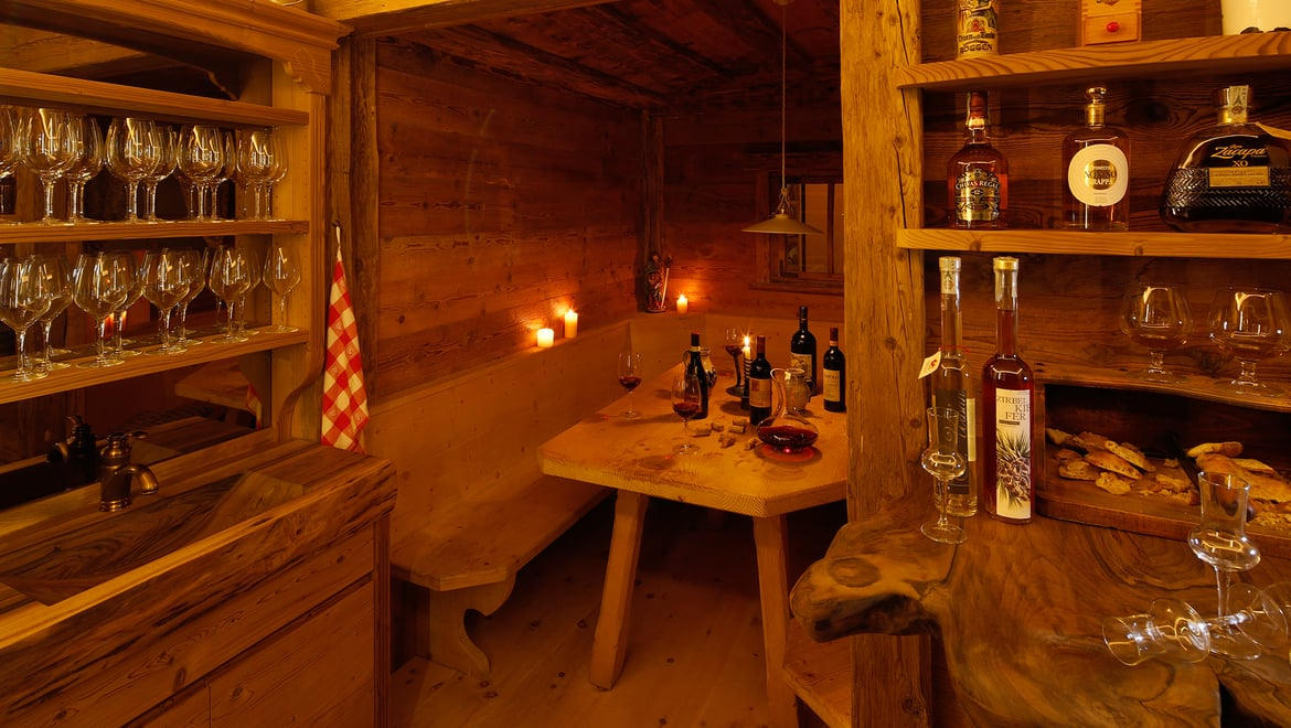 Our rustic wine cellar